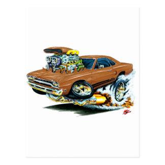 1968-69 Plymouth GTX Brown Car Postcard