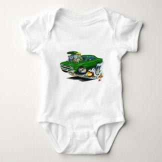 1968-69 Plymouth GTX Green Car Baby Bodysuit