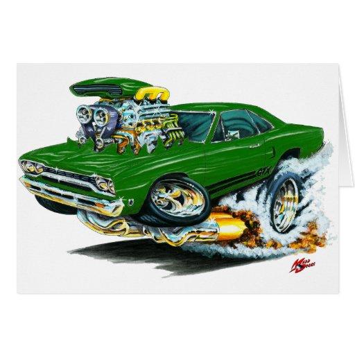 1968-69 Plymouth GTX Green Car Cards