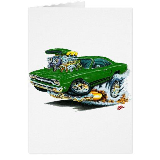 1968-69 Plymouth GTX Green Car Greeting Card
