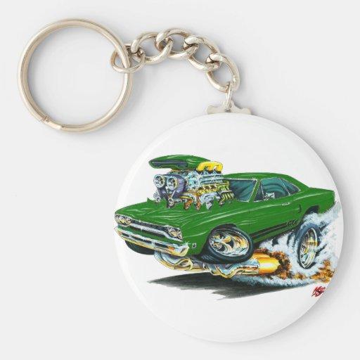 1968-69 Plymouth GTX Green Car Key Chains