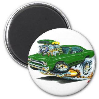 1968-69 Plymouth GTX Green Car 6 Cm Round Magnet