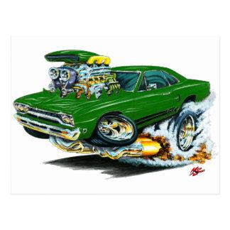 1968-69 Plymouth GTX Green Car Postcard