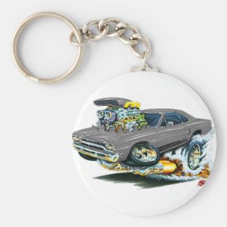 1968-69 Plymouth GTX Grey Car Basic Round Button Key Ring
