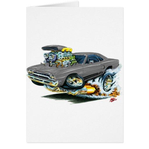 1968-69 Plymouth GTX Grey Car Greeting Cards