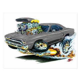 1968-69 Plymouth GTX Grey Car Postcard