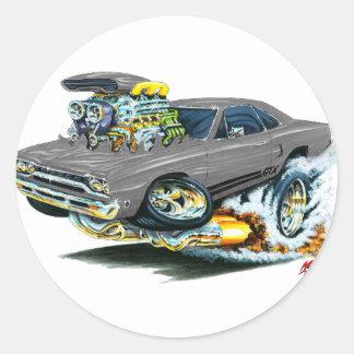 1968-69 Plymouth GTX Grey Car Round Sticker