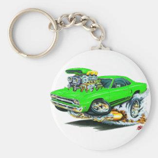 1968-69 Plymouth GTX Lime Car Basic Round Button Key Ring
