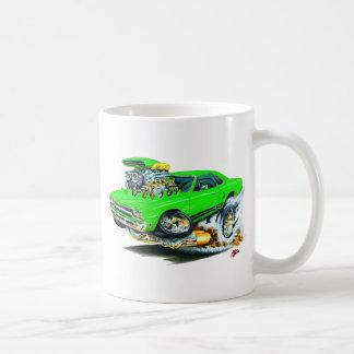 1968-69 Plymouth GTX Lime Car Basic White Mug