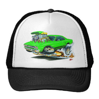 1968-69 Plymouth GTX Lime Car Mesh Hats