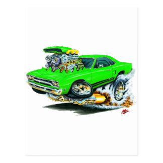 1968-69 Plymouth GTX Lime Car Postcard