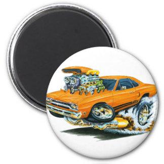 1968-69 Plymouth GTX Orange Car 6 Cm Round Magnet