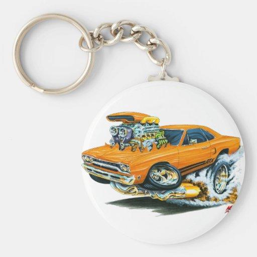 1968-69 Plymouth GTX Orange Car Key Chain
