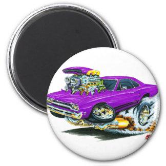 1968-69 Plymouth GTX Purple Car 6 Cm Round Magnet