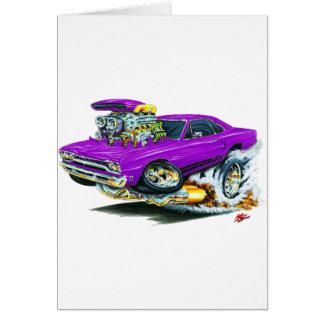 1968-69 Plymouth GTX Purple Car Greeting Card