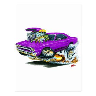 1968-69 Plymouth GTX Purple Car Postcard