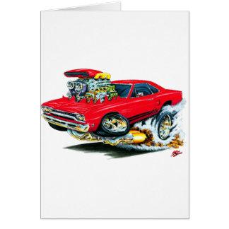 1968-69 Plymouth GTX Red Car Card