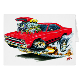 1968-69 Plymouth GTX Red Car Greeting Card