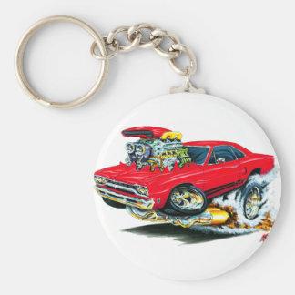 1968-69 Plymouth GTX Red Car Keychain