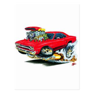 1968-69 Plymouth GTX Red Car Postcard