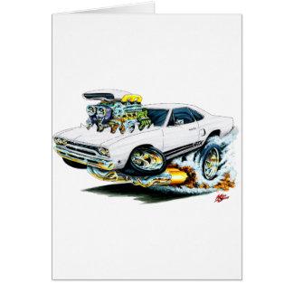 1968-69 Plymouth GTX White Car Greeting Card