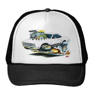 1968-69 Plymouth GTX White Car Trucker Hat
