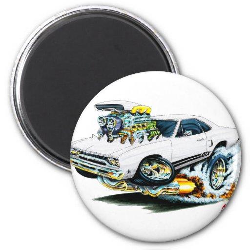1968-69 Plymouth GTX White Car Magnets