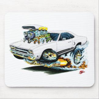 1968-69 Plymouth GTX White Car Mousepad