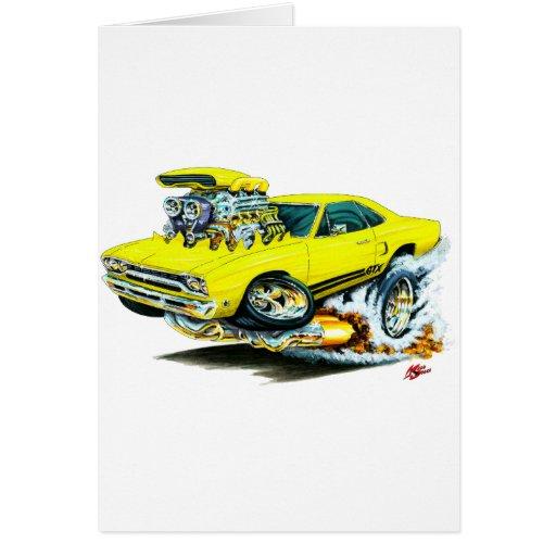 1968-69 Plymouth GTX Yellow Car Cards
