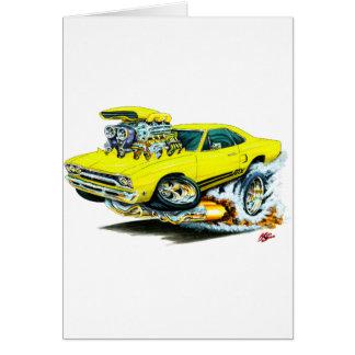 1968-69 Plymouth GTX Yellow Car Greeting Card
