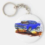 1968-69 Roadrunner Blue Car Key Chain