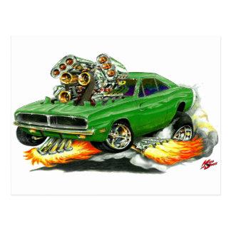 1968-70 Charger Green Car Postcard