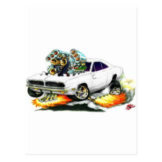 1968-70 Charger White Car Postcard