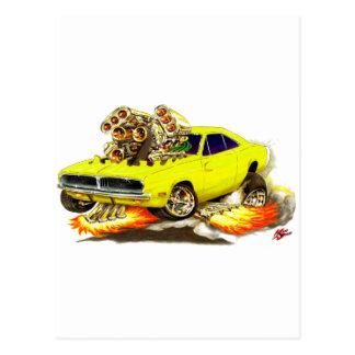 1968-70 Charger Yellow Car Postcard