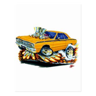 1968-71 Dodge Dart Orange Car Postcard