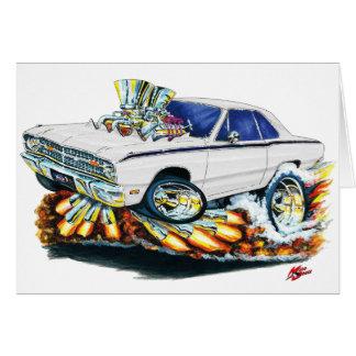 1968-71 Dodge Dart White Car Card