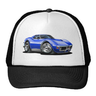 1968-72 Corvette Blue Car Trucker Hat