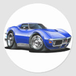 1968-72 Corvette Blue Car Sticker