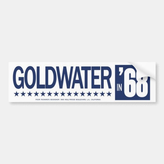 1968 Barry Goldwater  Vintage Bumper Sticker