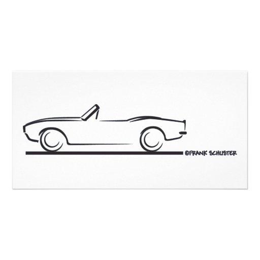 1968 Camaro Convertible BLK Customized Photo Card
