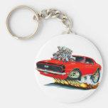 1968 Camaro Red-Black Car Key Chains