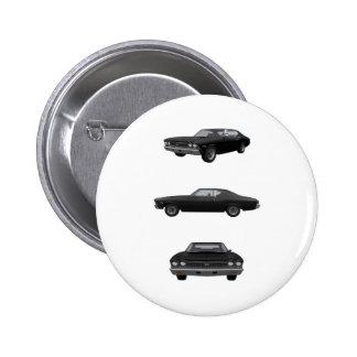 1968 Chevelle SS: 6 Cm Round Badge
