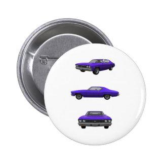 1968 Chevelle SS 6 Cm Round Badge