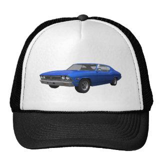 1968 Chevelle SS: Blue Finish Mesh Hats