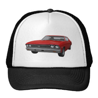 1968 Chevelle SS: Red Finish Mesh Hat