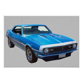 1968 Chevrolet Camaro 327 Muscle Car Posters