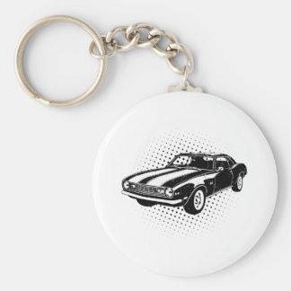 1968 Chevrolet Camaro Z28 Basic Round Button Key Ring