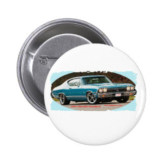 1968_Chevrolet_Chevelle_SS 6 Cm Round Badge