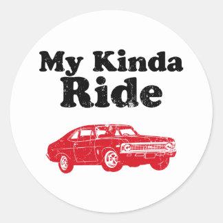 1968 Chevrolet Nova SS 396 Round Sticker
