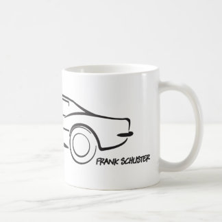 1968 Corvette Hardtop BLK Basic White Mug